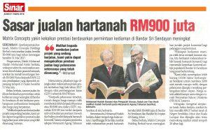 Sasar Jualan Hartanah RM900juta - Sinar Harian