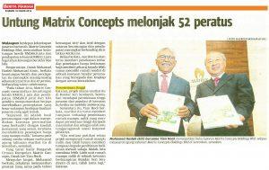 Untung Matrix Concepts Melonjak 52 Peratus - Berita Harian